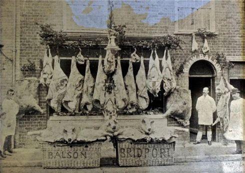Balson butchers in 1880